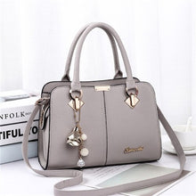 Load image into Gallery viewer,  - Women Handbag Shoulder Bag Girls Fashion Famous Design Leather Big Casual Tote High Quality Hasp Casual Black New 2019 - guiro - Zeinab Fashion