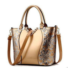 Load image into Gallery viewer, ,Luxury Sequin Embroidery Women Bag Patent Leather Handbag Diamond Shoulder Messenger Bags Famous Brand Designer LL242,guiro,Zeinab Fashion.