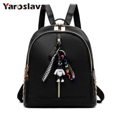 - Ribbon Nylon Oxford rivets Backpack Female Colorful Letters Travel Backpacks for Women Casual Canvas Waterproof School Bag LL600 - guiro - Zeinab Fashion