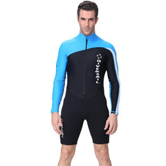 - Men Women UV Protection Wetsuit Long Sleeve Zipper Front Swimsuit Wetsuit Surf Rashguard for Diving Snorkeling Swimming new - guiro - Zeinab Fashion