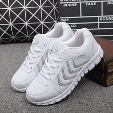 Load image into Gallery viewer,  - Koovan Women Net Sports Shoes 2019 New Breathable Couple Boys Girls Lightweight Casual Women's Shoes White Travel Sneakers - guiro - Zeinab Fashion