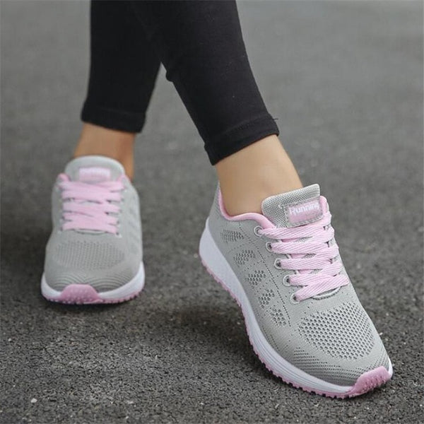- Women shoes 2019 fashion casual shoes woman canvas sneakers women vulcanized shoes breathable mesh women sneakers plus size - guiro - Zeinab Fashion