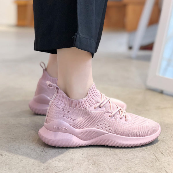 - Women Shoes Plus Size 40 Women Vulcanize Shoes Fashion Slip On Sock Shoes Female Mesh White Sneakers Flat Casual Tenis Feminino - guiro - Zeinab Fashion
