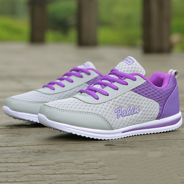 - 2019 Casual Shoes Woman White Women Sneaker Breathable Mesh Female fashion Sneakers Women Chunky Sneakers Shoes sapato feminino - guiro - Zeinab Fashion