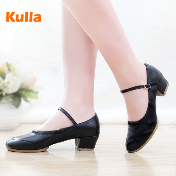 - New Women Dance Shoes Spring Autumn Ladies Modern Salsa Latin Practice Dancing Shoes For Woman Girls Jazz Square Dance Shoes - guiro - Zeinab Fashion