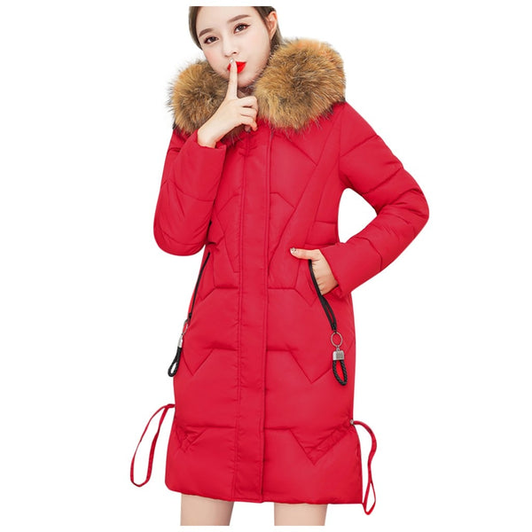 Fall Winter Warm Cotton Hooded Winter Jackets Long Sleeves Coat Winter Jacket Down Parka Women & Girls