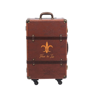 Luggage,Brown Retro Spinner Rolling Luggage Women Trolley Storage PU Leather Suitcase Wheels Vintage Cabin Travel Bag,guiro,Zeinab Fashion.