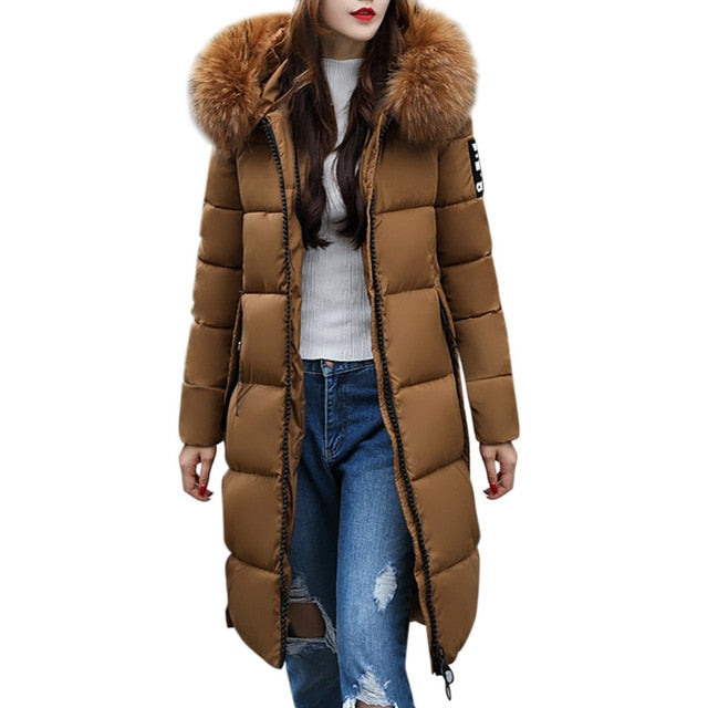 ,Women's Parkas Women Solid Casual Thickened Winter Slim Down Jacket Coat Overcoat Down Parka For Girls,guiro,Zeinab Fashion.