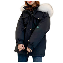 Load image into Gallery viewer, ,Warm Casual Plus Size Overcoat Winter Jacket Fashion Women Winter Warm Hooded  Cotton  Winter Jacket Solid Long-Sleeved Coat,guiro,Zeinab Fashion.