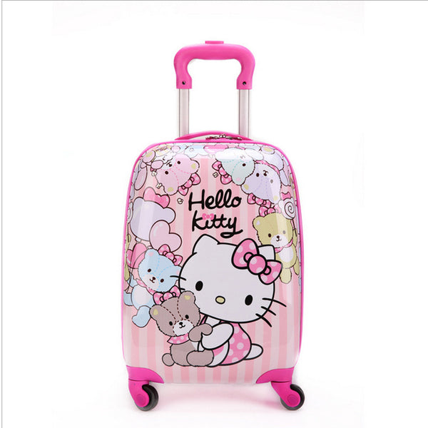 - 16 inch Kid's Lovely Travel Luggage, Children Hello Kitty Trolley Luggage With Universal Wheel, Pink Suitcase - guiro - Zeinab Fashion