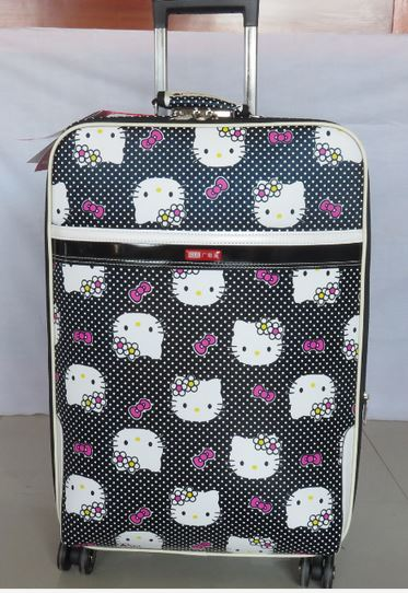 - NEW 20 inch Hello kitty Spinner travel Luggage suitcase sets kids student women trolleys rolling luggage EMS/DHL free shipping - guiro - Zeinab Fashion