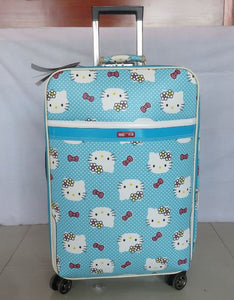 ,NEW 20 inch Hello kitty Spinner travel Luggage suitcase sets kids student women trolleys rolling luggage EMS/DHL free shipping,guiro,Zeinab Fashion.