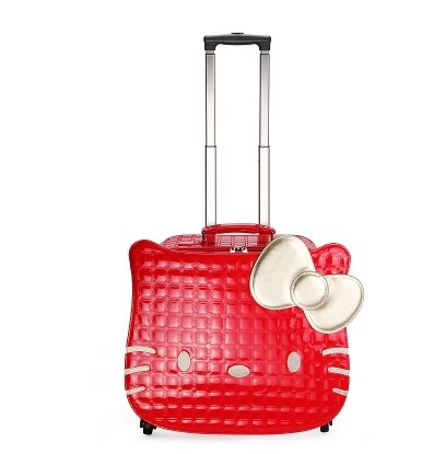 - Hellokitty universal wheels trolley luggage travel bag suitcase child luggage,18inch lovely children hello kitty travel bags - guiro - Zeinab Fashion