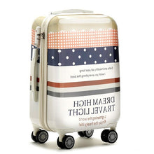 "Load image into Gallery viewer,  - 20""24 inches ABS+PC hard shell lovely letter suitcase bag trolley luggage/Pull Rod Travel trunk/traveller case box spinner wheel - guiro - Zeinab Fashion"