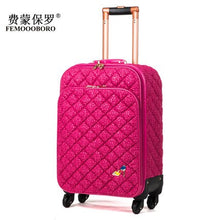 Load image into Gallery viewer, ,Fashion lace travel bag female universal wheels trolley luggage bag suitcase luggage gossip,euro faashion style 16inch luggage,guiro,Zeinab Fashion.