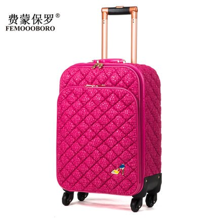 - Fashion lace travel bag female universal wheels trolley luggage bag suitcase luggage gossip,euro faashion style 16inch luggage - guiro - Zeinab Fashion