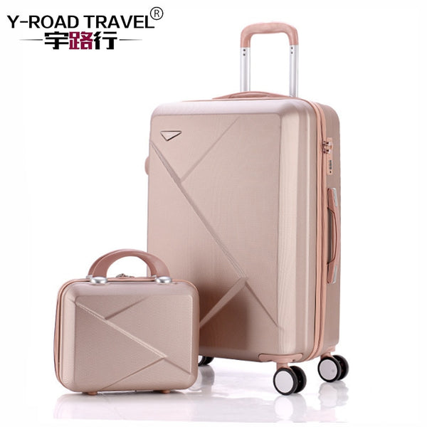 "- 20""22""24""26""inch Carry-Ons Luggage Case Set, Children Women Suitcase,Travel Koffer With Password Lock , Rolling Trolley Hardcase - guiro - Zeinab Fashion"