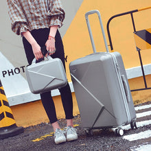 "Load image into Gallery viewer,  - 20""22""24""26""inch Carry-Ons Luggage Case Set, Children Women Suitcase,Travel Koffer With Password Lock , Rolling Trolley Hardcase - guiro - Zeinab Fashion"