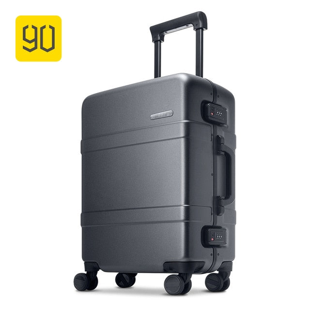 - Xiaomi Ecosystem 90FUN Upgraded Aluminum Framed Suitcase PC Spinner Wheel Carry on Hardshell Luggage,20