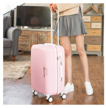 "Load image into Gallery viewer,  - ABS+ PC Brand Women 20""24""26"" Inch Travel Luggage Trolley suitcase Boarding Case Rolling Case On Wheels  Women Rolling Luggages - guiro - Zeinab Fashion"