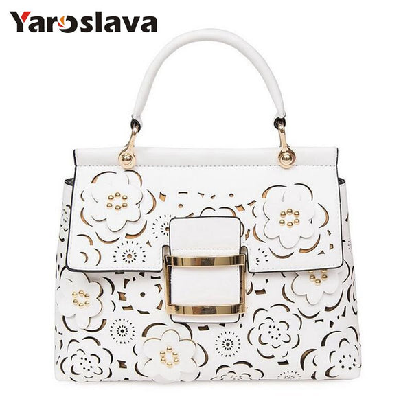 - Designer Hollow Out Flowers Bag Women Shoulder Bags Famous Brand Quilted Bag Luxury Handbags Women Bags Designer LL130 - guiro - Zeinab Fashion