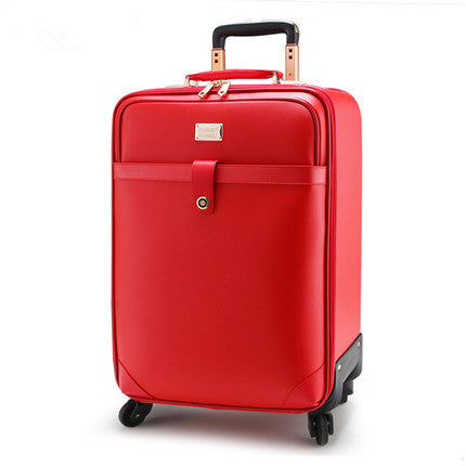 - Married The Box Trolley Luggage Universal Wheels Travel Bag Female Red Suitcase Box Bride, High Quality Retro Red Married Bag - guiro - Zeinab Fashion
