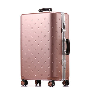 ,Letrend business Aluminium Frame Rolling Luggage Spinner Suitcases Wheels password Trolley 20 inch Cabin Travel Bag Trunk,guiro,Zeinab Fashion.