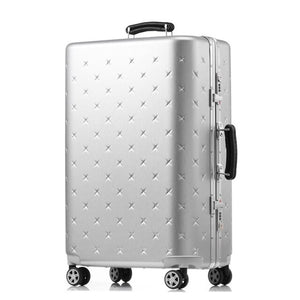 - Letrend business Aluminium Frame Rolling Luggage Spinner Suitcases Wheels password Trolley 20 inch Cabin Travel Bag Trunk - guiro - Zeinab Fashion