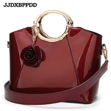 Load image into Gallery viewer, ,New High Quality Patent Leather Women bag Ladies Cross Body messenger Shoulder Bags Handbags Women Famous Brands bolsa,guiro,Zeinab Fashion.