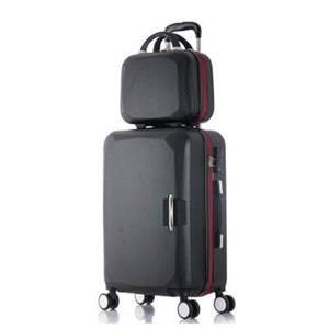 - 2018 New Hot sales One set Trolley case suitcase set/travell case luggage/Pull Rod trunk rolling spinner wheels/PC boarding bag - guiro - Zeinab Fashion