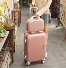 Load image into Gallery viewer, ,Women Travel Luggage Set Trolley suitcase Cosmetic Suitcase Rolling Bags  On Wheels  Women Wheeled Rolling Luggage Suitcase,guiro,Zeinab Fashion.
