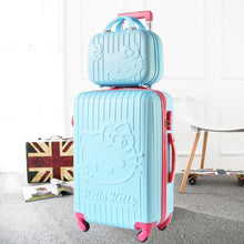 Load image into Gallery viewer,  - Hello Kitty One Set ABS PC Luxury Women Rolling Luggage Suitcase Designer 20 Inches High Quality 4 Wheels Spinner Airport Bag - guiro - Zeinab Fashion
