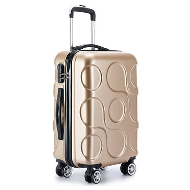 - 2018 NEW business ABS trolley case students Travel waterproof luggage rolling suitcase Boarding Password box Mute Cardan wheel - guiro - Zeinab Fashion