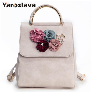 ,Fashion Women Backpack Floral Women Shoulder Bag Schoolbag for Girls PU leather backpack LL2,guiro,Zeinab Fashion.