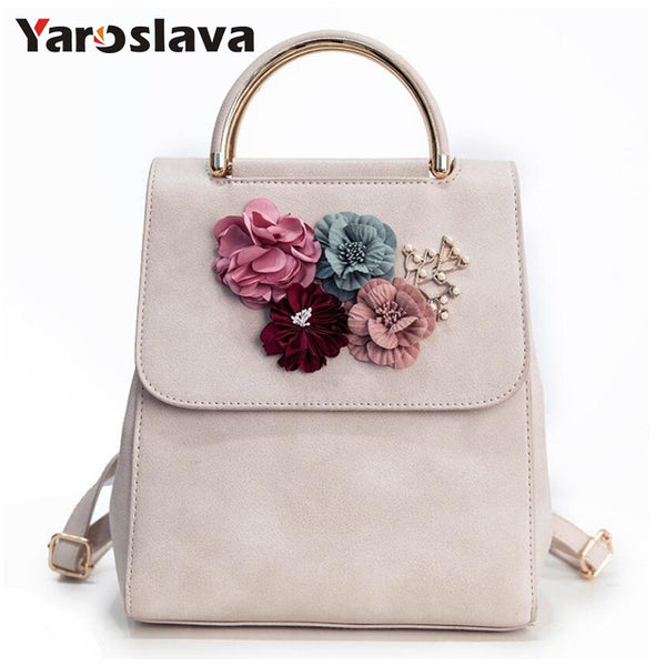 - Fashion Women Backpack Floral Women Shoulder Bag Schoolbag for Girls PU leather backpack LL2 - guiro - Zeinab Fashion