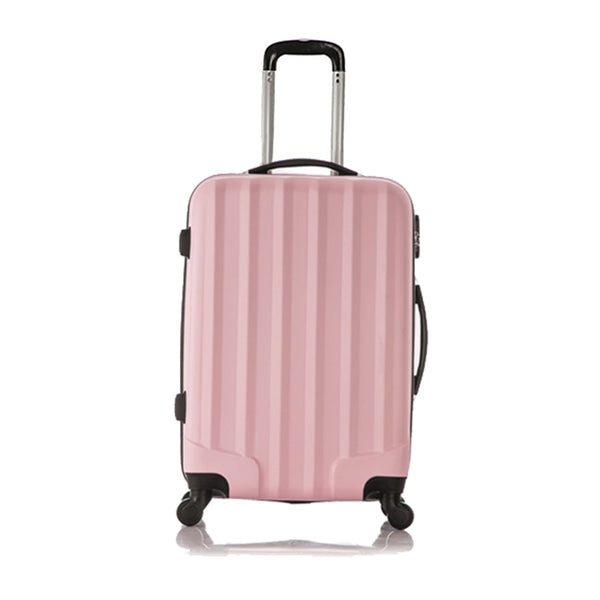 - FGGS Set of 1 piece travel luggage 4 wheels trolleys suitcase bag hard shell Color Pink - guiro - Zeinab Fashion