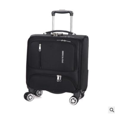 - 18 Inch Luggage Suitcase Oxford Cabin Boarding Spinner suitcase Men Travel Rolling luggage bag On Wheels Travel Wheeled Suitcase - guiro - Zeinab Fashion