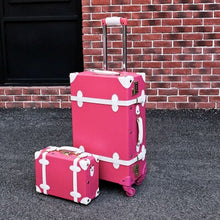 Load image into Gallery viewer, ,Vintage Travel Rolling Luggage Suitcase Bag ,PU Leather Box with Cosmetic bag ,Women Carrier,high qualit Carry-On Trolley Case,guiro,Zeinab Fashion.