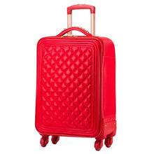 Load image into Gallery viewer,  - Trolley luggage picture box travel bag universal wheels married the box bride suitcase red luggage 14 20 24inches red pu bags - guiro - Zeinab Fashion