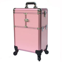 - Aluminum frame Travel trolley case Bag Makeup Box Beauty Toolbox Multilayer professional Suitcase Universal Wheels Luggage Bags - guiro - Zeinab Fashion