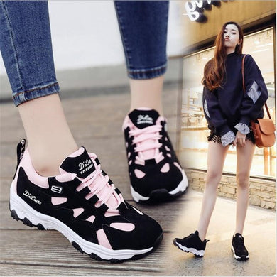 ,Spring Women Shoes 2018 New Fashion white Black Platform Sneakers Women Casual Shoes Harajuku Basket Femme Tenis Feminino,guiro,Zeinab Fashion.