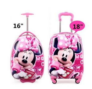 - New Children's Hardside Luggage  Cartoon Suitcase Boy Boarding Rolling Luggage Student ABS  trolley luggage for kids Wheeled Bag - guiro - Zeinab Fashion