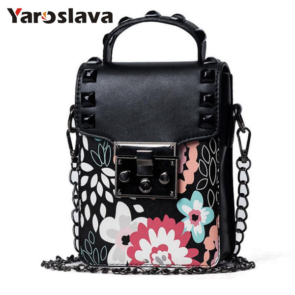 - Women Chain Small Square Bag women Handbag Trend Printing Women Shoulder Messenger Bag Mobile Phone Leisure Women Bag  LL598 - guiro - Zeinab Fashion