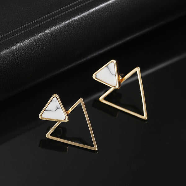 Jewelry - New Earrings Fashion Simple Stud Earrings Personality Trend Push-back Triangle Earrings Jewelry Women's Earrings - guiro - Zeinab Fashion