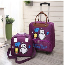 Load image into Gallery viewer,  - CARRYLOVE cartoon luggage series 16/18 size  boarding handbag+Rolling Luggage Spinner brand Travel Suitcase - guiro - Zeinab Fashion