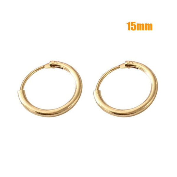 - Hot Sale Hoop Earrings 40mm 60mm 70mm Big Smooth Circle Earrings Basketball Brincos Loop Earrings for Women Jewelry Oorbellen - guiro - Guiro