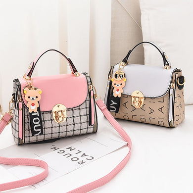 ,New Cute Type Ladies PU Handbag High Quality Hot Sale Small Girls Exquisite Color Matching Casual Fashion Small Square Bag,guiro,Cosmiz.