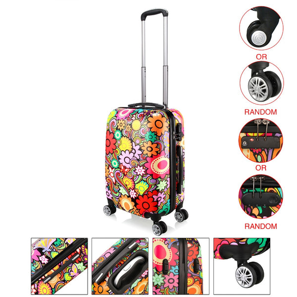 "- RU Style  28"" Rolling Luggage Spinner Suitcase On Wheels Travel Trolley Luggage Suitcase - guiro - Zeinab Fashion"