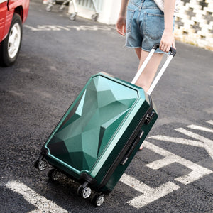 - New Fashion Trolley Boarding Case ABS+PC Colorful Travel Waterproof Luggage Set Rolling Suitcase Spinner Box - guiro - Zeinab Fashion
