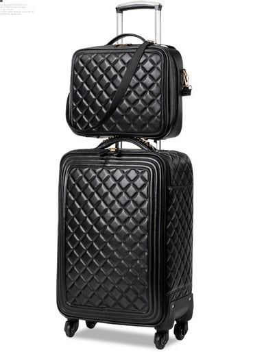 - Trolley Luggage Luxury Luggage Travel Bag Suitcase Male Female Universal Wheels Luggage, Black Luggage Sets - guiro - Zeinab Fashion